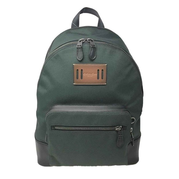 84584579f ... netherlands coach mens west backpack in cordura fabric green ca707 c66ff